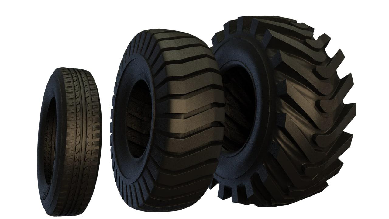 truck wheel 3d max