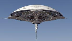 max futuristic building sci-fi