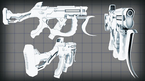 hard charger concept weapon 3d max