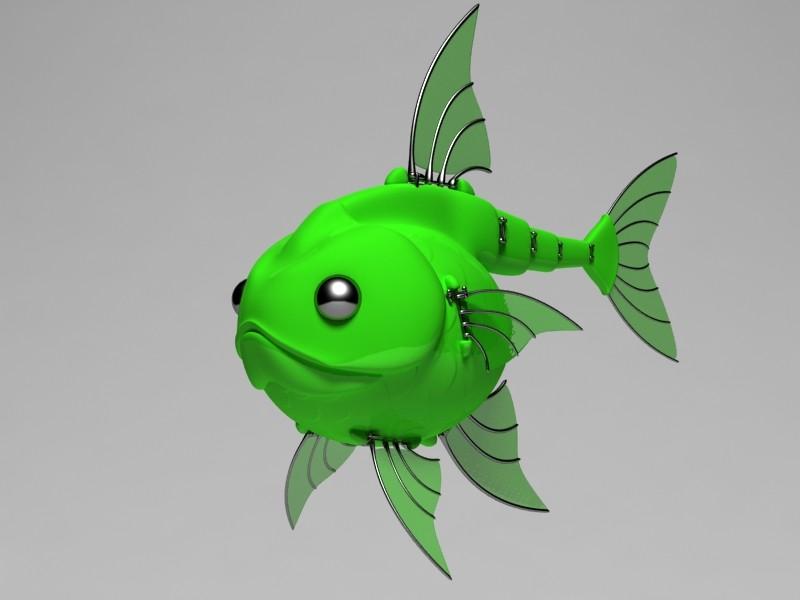 3ds max mechanical robot fish