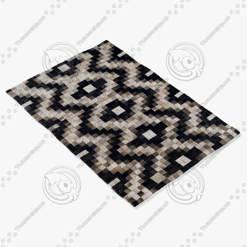 3ds max momeni rugs abstract jacquard