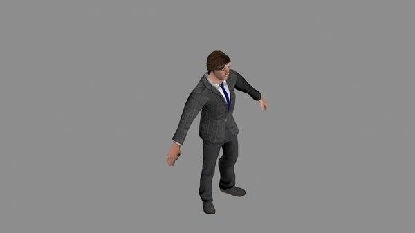 3d male businessman model