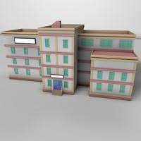 3d simple building 01