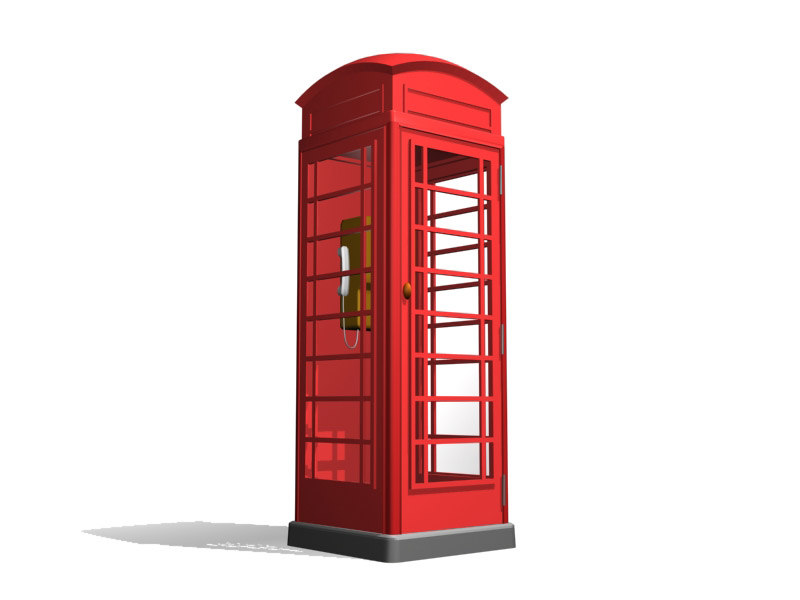 3ds max red telephone box