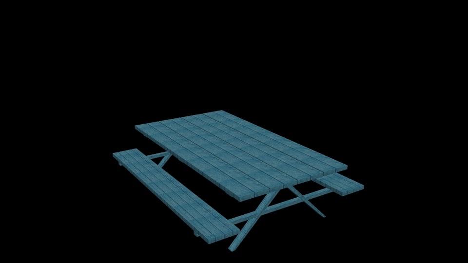 picnic table 3d model
