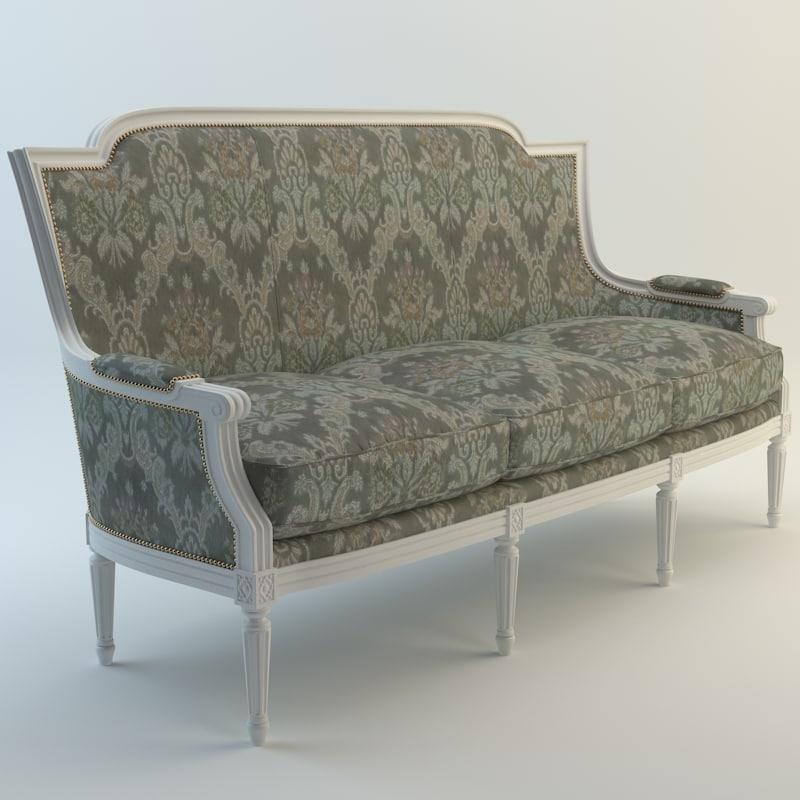 seven sedie ottocento 3d model
