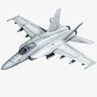 3d f a-18 super hornet