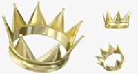 3d gold crown