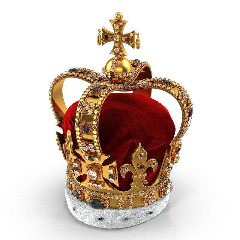 st edwards crown fur 3d max