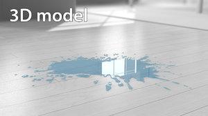blot water 3d model