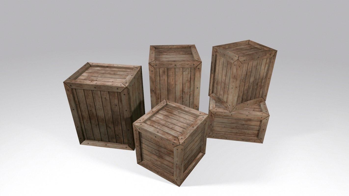 max ready wooden crates set