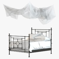 Restoration Hardware QUATREFOIL IRON BED