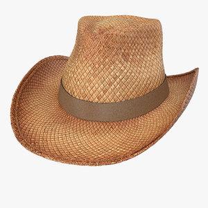 straw cowboy hat 3d model