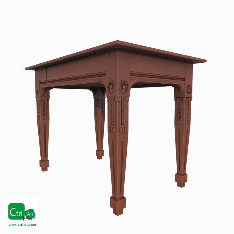 antique table obj