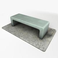 3d model stone chair