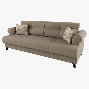 sofa cushions armrests 3d model
