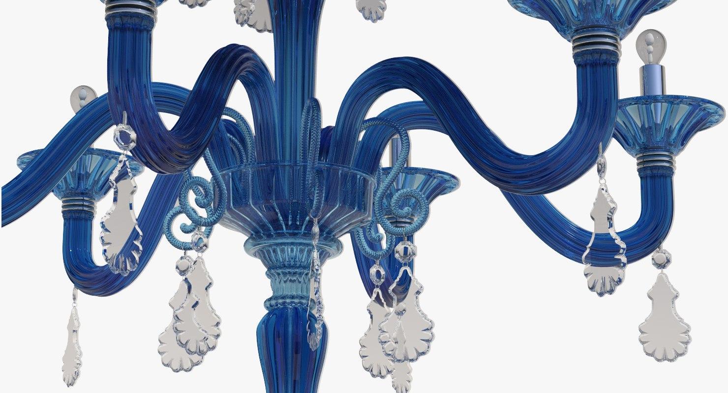 chandelier torpedo taif blu 3d model