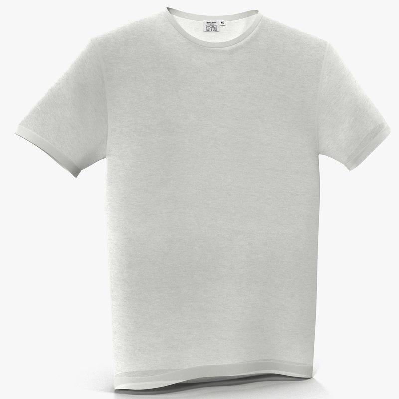 3d t-shirt modeled