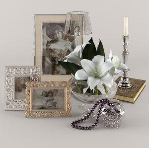 3ds max decorative set