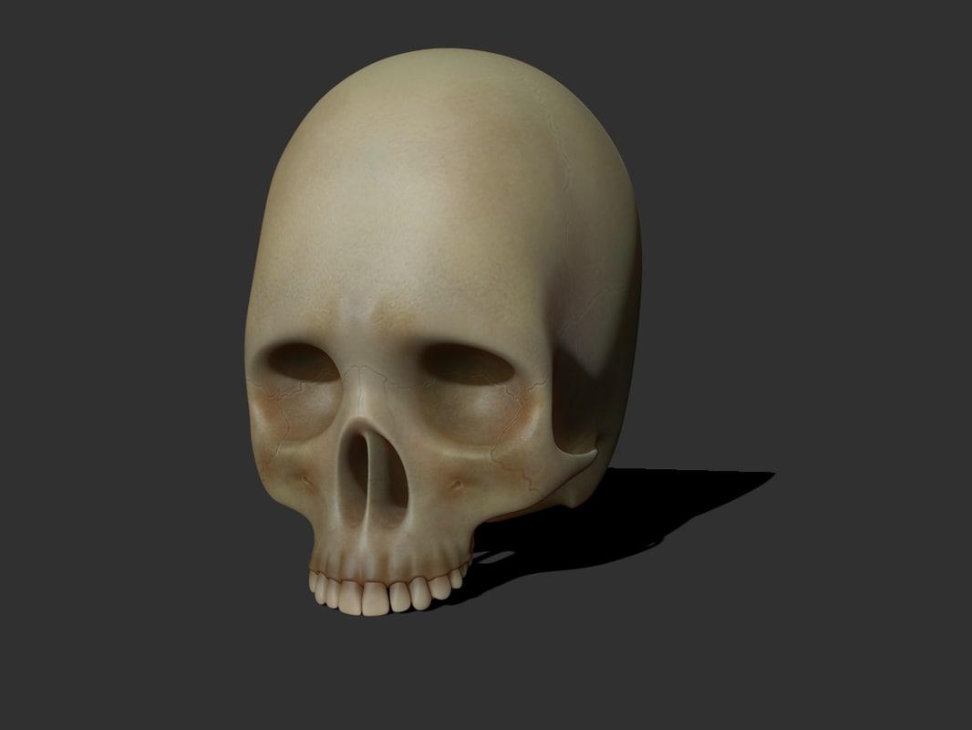 3ds max skull