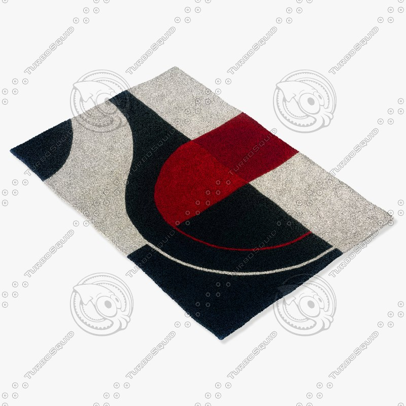 obj momeni rugs abstract dl22blk