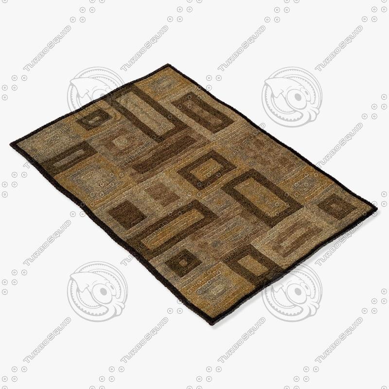 3d model momeni rugs abstract dr02brn