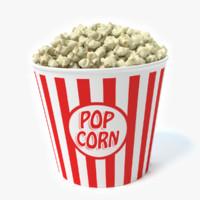 bucket popcorn 3d max