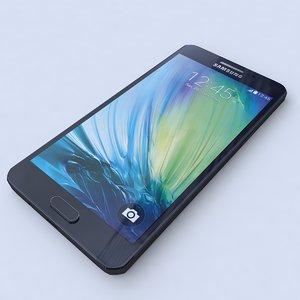samsung galaxy a5 black 3d model