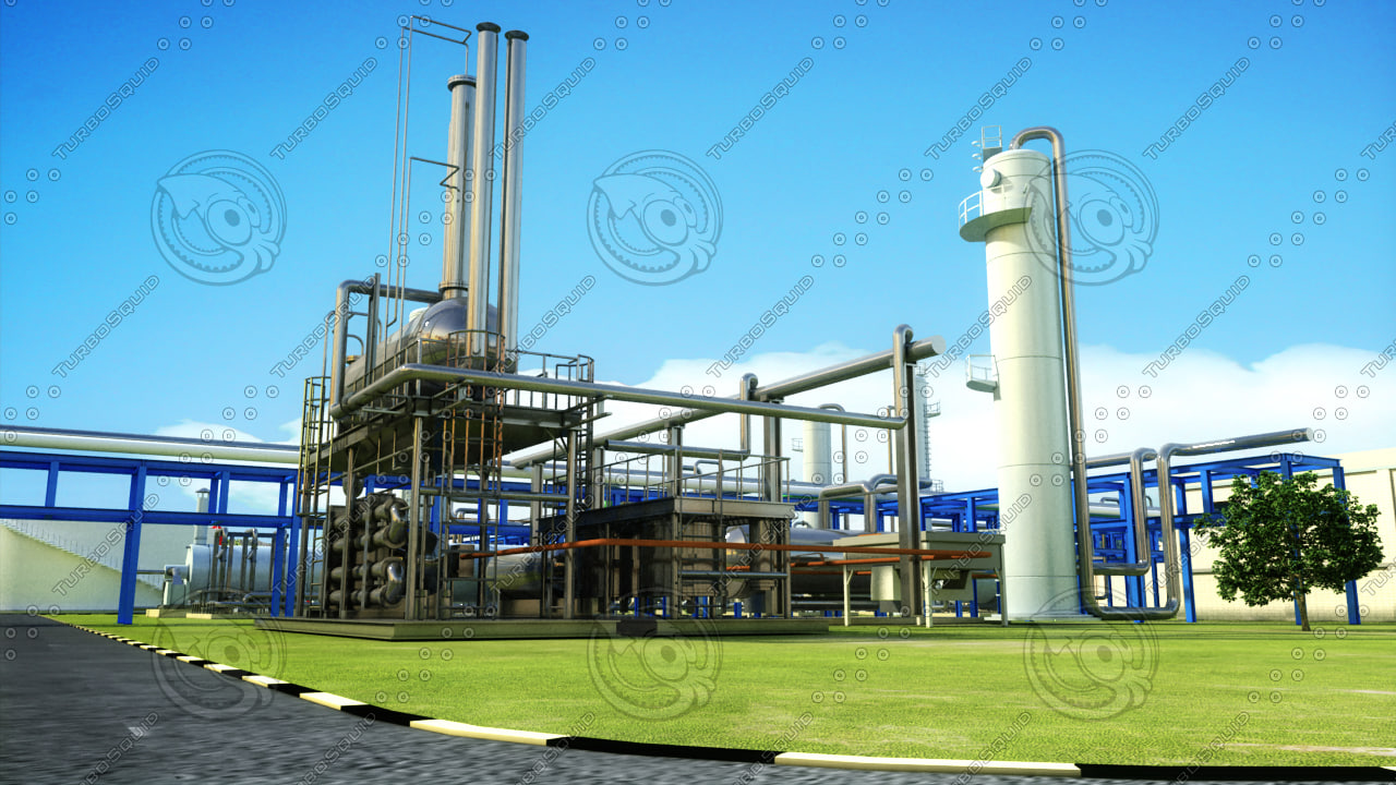 gas treatment plant power 3ds