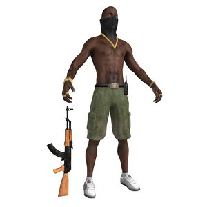 black gangsta 3d model