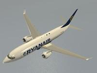3d boeing 737-800 ryanair model