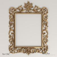 obj decorative frames mirrors