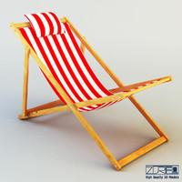 veliero chaise lounge 3d model
