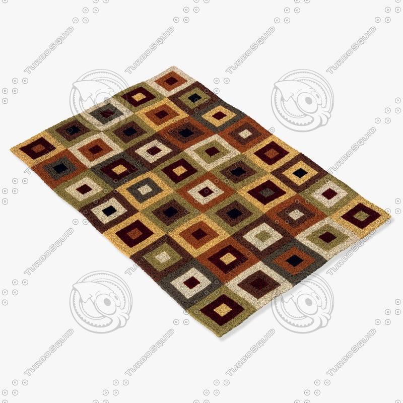 3d model momeni rugs abstract el04mti