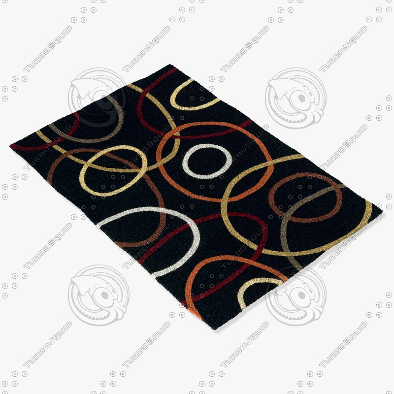 3d momeni rugs abstract el09brn model