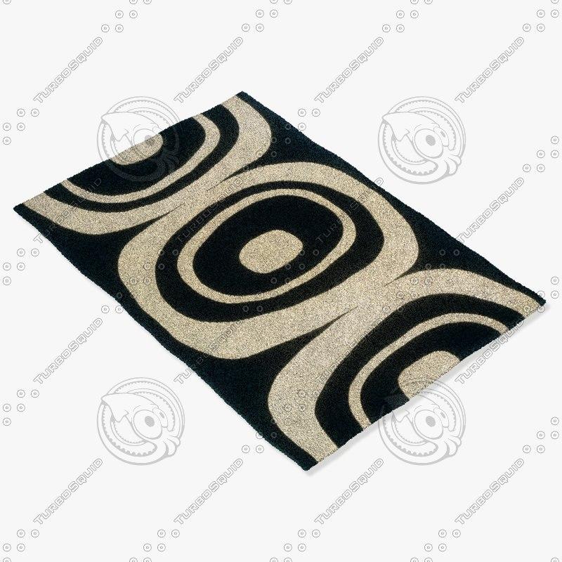 momeni rugs abstract el20blk 3d max
