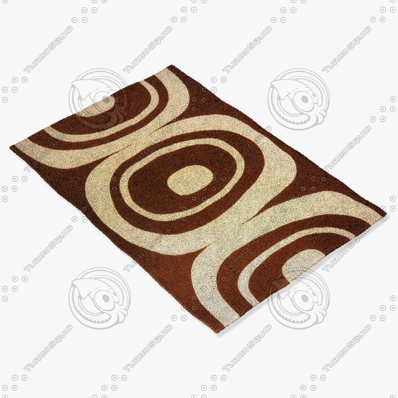 momeni rugs abstract el20brn 3d obj