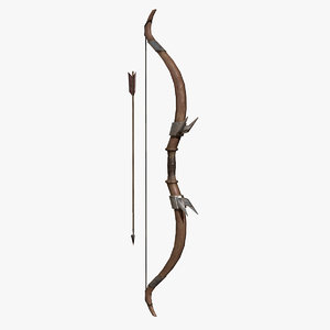3d model longbow bow
