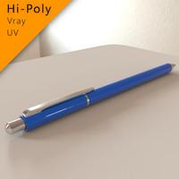 [Hi-poly, VRay] Pen