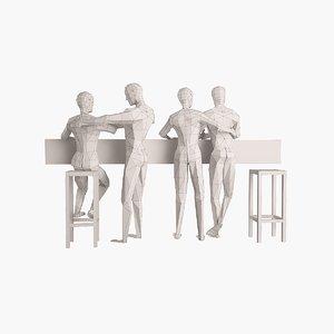 3ds max pair figures