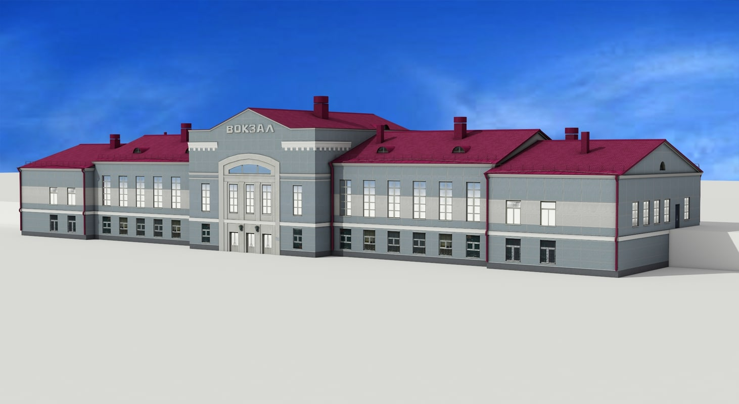 3d model railway station angarsk