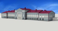 3d model railway station angarsk