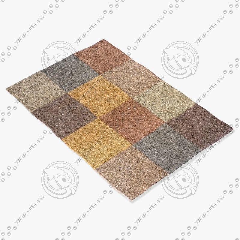 momeni rugs abstract innovin05brn 3d model