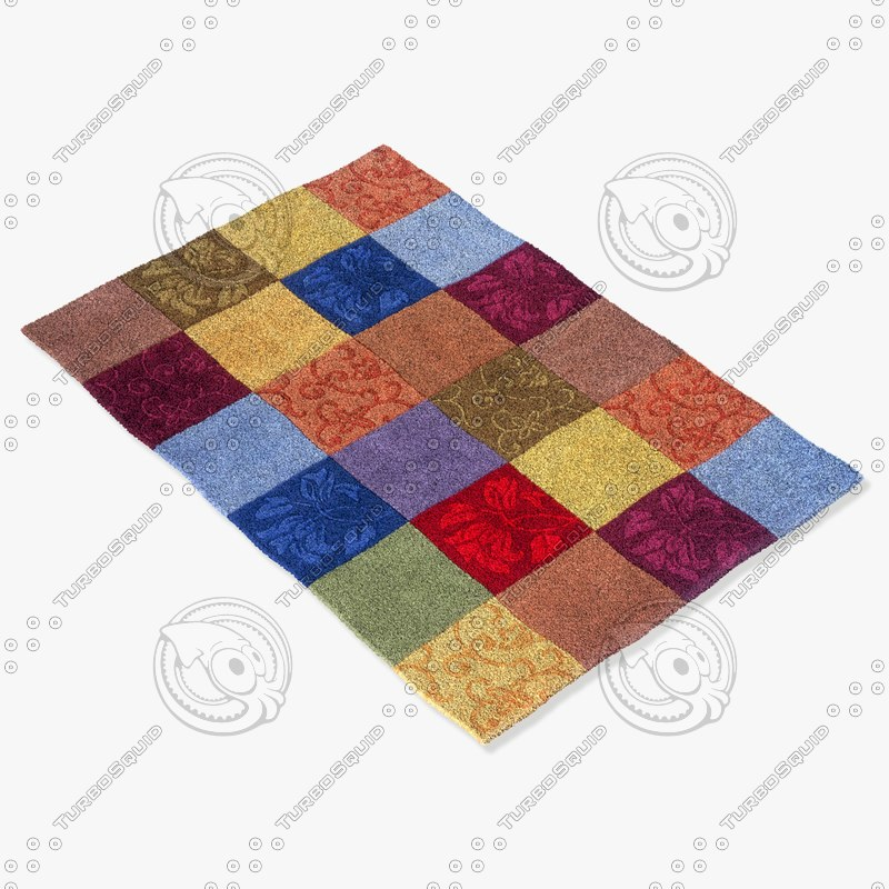 momeni rugs abstract innovin06mti 3d model