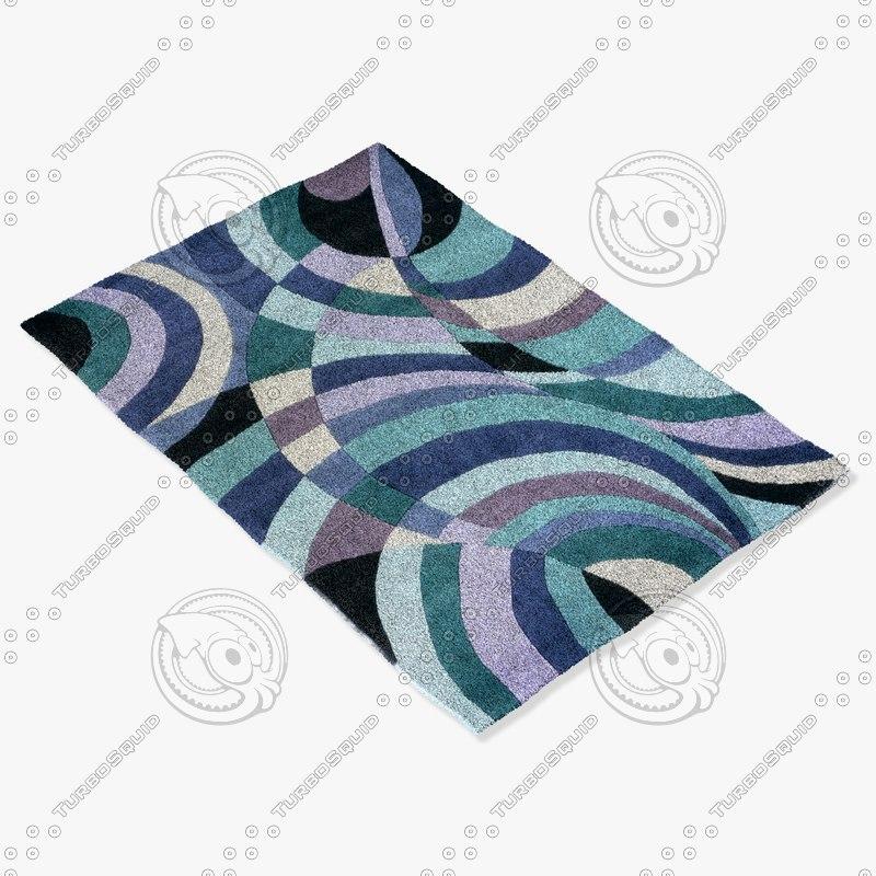 momeni rugs abstract innovin14tel 3d model