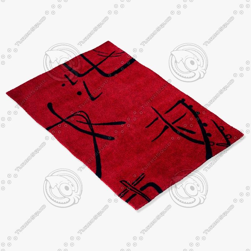 momeni rugs abstract koi00ko06red 3d max