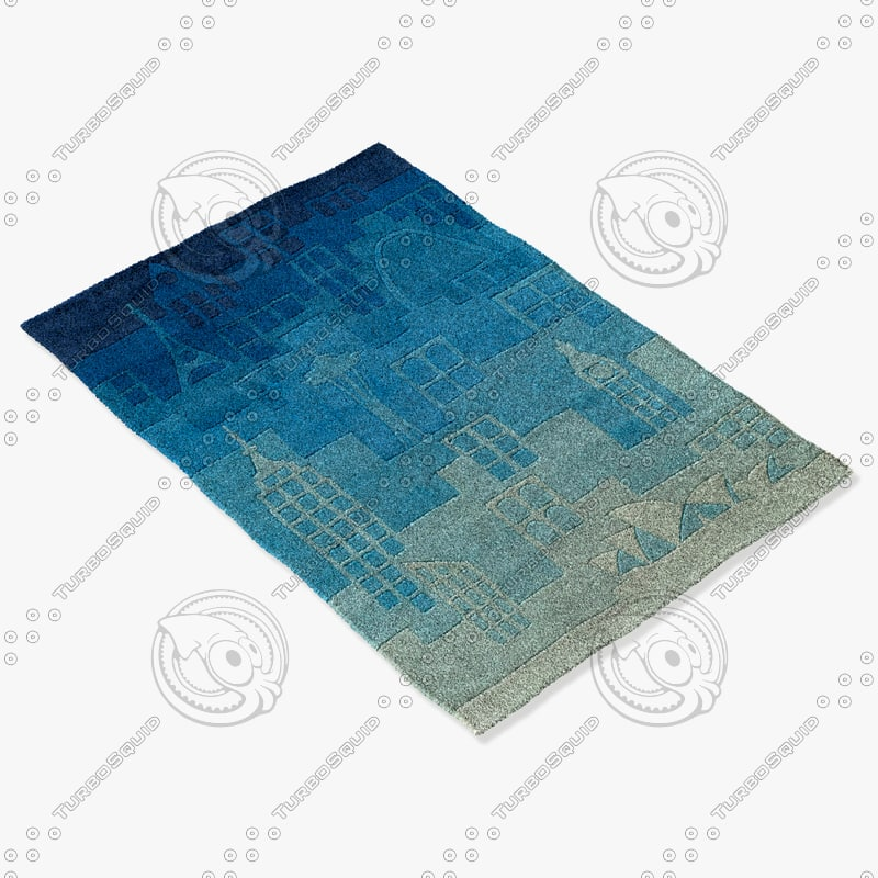momeni rugs abstract lmotwlmt11blu 3d obj