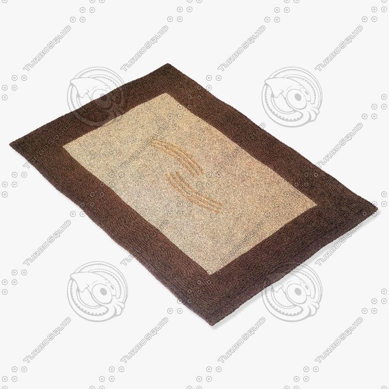 3d model momeni rugs abstract metromt02brn