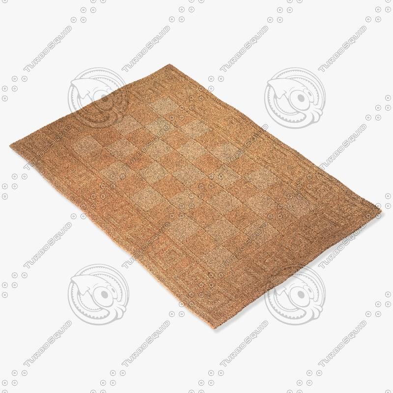 momeni rugs abstract metromt03bge 3d model