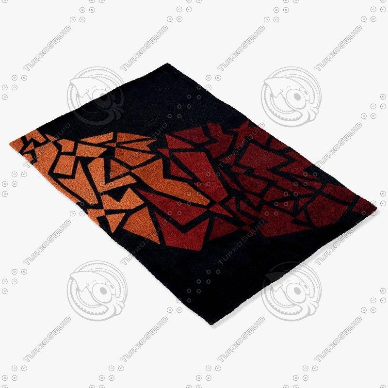 3d momeni rugs abstract newwanw119blk model